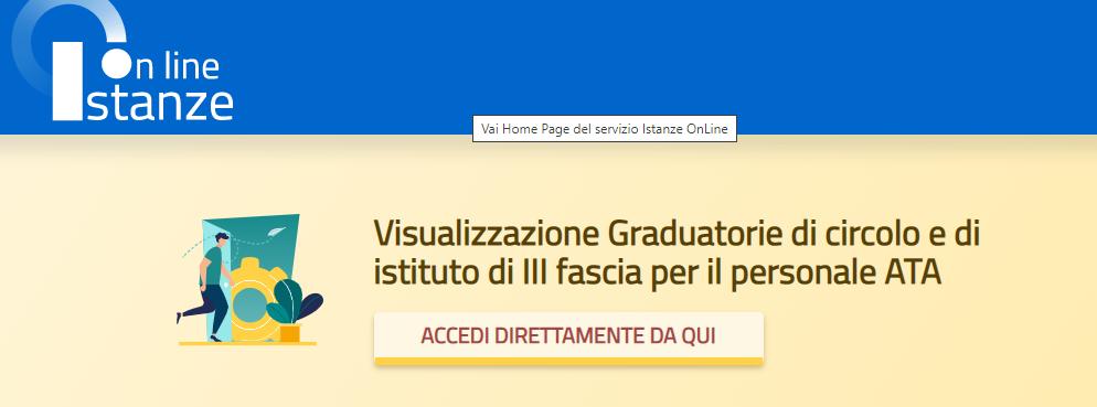 Visualizzazione Graduatorie di circolo e di istituto di III fascia per il personale ATA